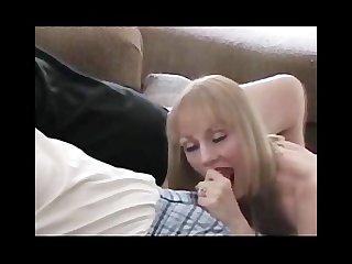Melanie enjoys 2 men