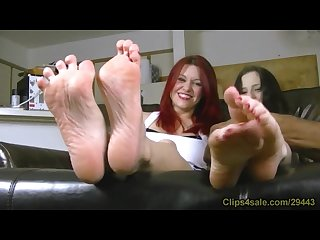 Catherine foxx and luna vera in foot tickle contest