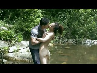 Korean angel having a passionate outdoor sex with stranger