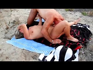Lisa cuckold at the cap d\'agde beach with big cock