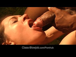 Insatiable black cock blowjob