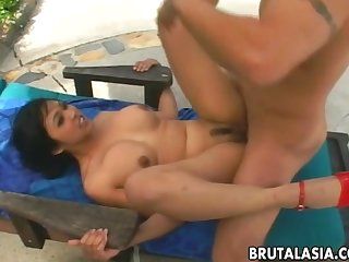 Gorgeous japanese babe Mika tan enjoys smutty anal sex