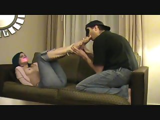 Loren chance bound and gagged foot worship