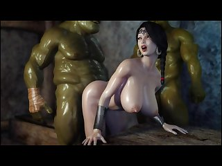 Secret of beauty orc ritual 3d hentai