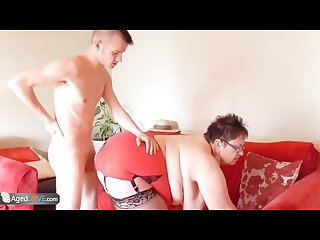 Gardener Sam bourne fucks old bbw granny