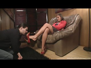 Footfetishsanctuary ffs 016 mistress jessica favorite red high heel