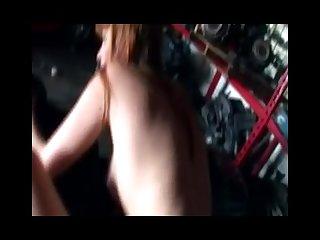 Dumb redhead marie mccray screwed in public