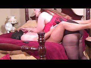 Sexy bbw strapon fucks willing slave