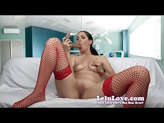 Lelu love nurse dildo sucking Jerkoff encouragement