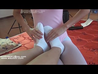 Chinese tianer lulu socks trample