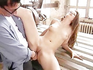 Letting The Windmill Repairman Gape Her Anus