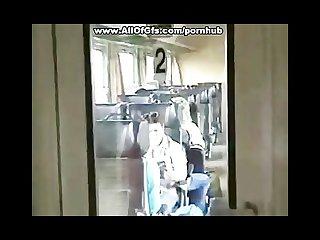 Crazy gf blowjob video in the train