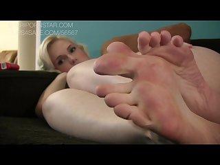 Siri foot sole tease