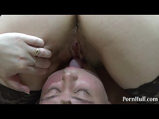 Chubby lesbians licking each other hairy pussy