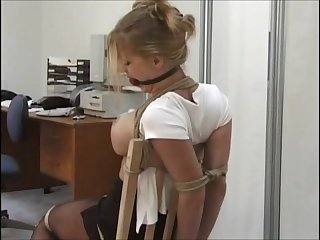Amber michaels chair tied tight