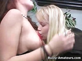 Busty lacie and kat on lesbian action