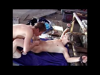 Twinks tied tickled and cum