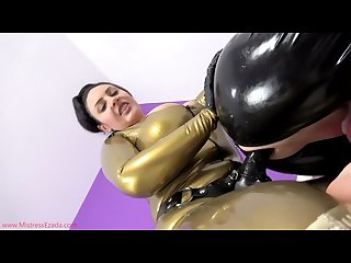 Latex bitchboy pegging