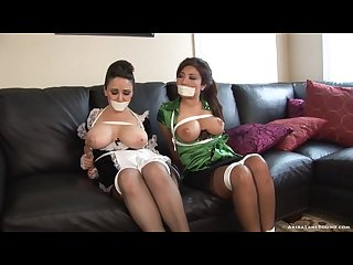 Damsels tied up and tapegagged