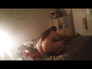 Fat bitch squats and rides his face