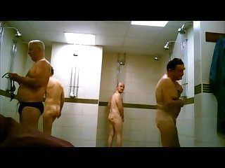 Spycam gym showers straight cock