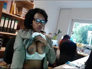Sexy ebony secretary tits Flash