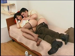 Gertie vika the housemaid in pantyhose steals her client and gets punished
