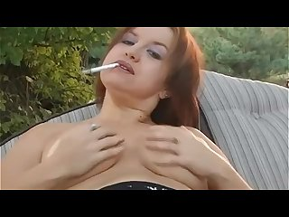 Smoking alhana outside topless dangles bonus inside nude intro play