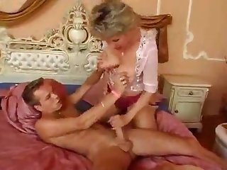 Blonde mom son