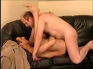 Chubby daddy fucks sons friend