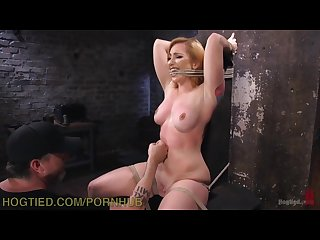 Redhead s brutal and extreme rope bondage