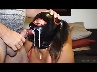 Latex hood facial