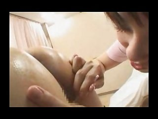 Hot asian deep tissue massage