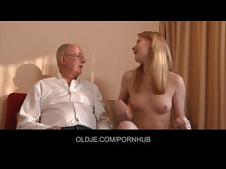 Old religious man sins by fucking girly