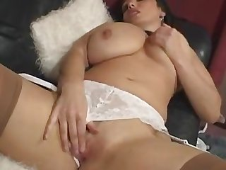 Big boobs solo naked in stockings dildo pussy cunt
