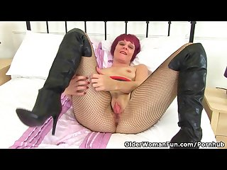 Masturbating in fishnet tights is such a turn on for penny