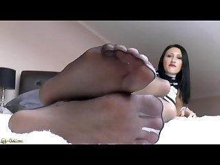 Mistress pantyhose feet pov