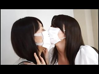 Surgical Masked japanese women make out part 1