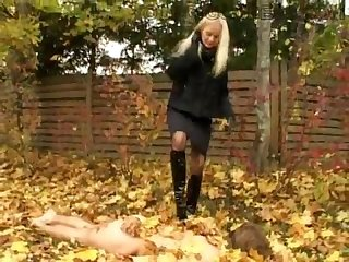 Young goddess juliya public boots worship