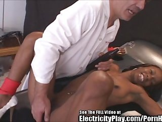 Insane sex doctor electro shocks black chick