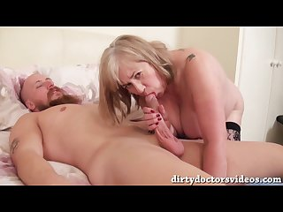 Dirty slut trisha brings home a homeless guy cleanes him up then fucks him