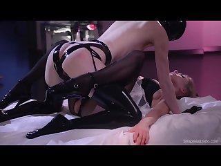 Lesbian latex pantyhose fuck 3