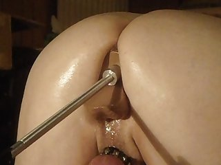 See how deep the dildo attached to my fucking machine goes into my ass