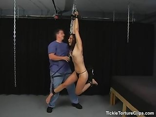 Suspended and tickled