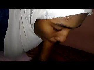 Muslim hijab Girl Slow licking blowjob gagging brutal face fuck puke vomit