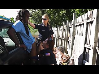 BLACK PATROL - Cougar Cops Maggie Green and Joslyn Bust A Rastafarian