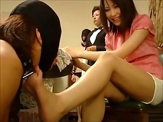 Japanese rich feet slave