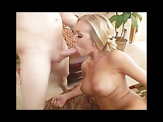 Nicole aniston gets a facial after sucking a cock