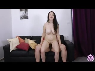 Busty pregnant brunette fucked while Lactating