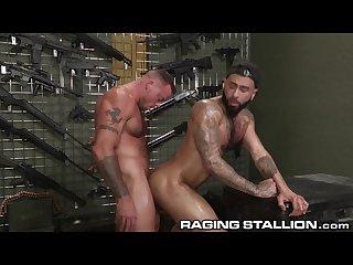 Ragingstallion doggystyle in gun store with sean duran